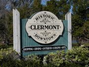 this sign welcomes guests during an original orlando tours visit to historic clermont florida for lunch