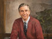 Fred Rogers portrait at rollins college in historic old world winter park seen during original orlando tours