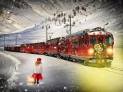 Winter Polar Express Train train tour in Mount Dora