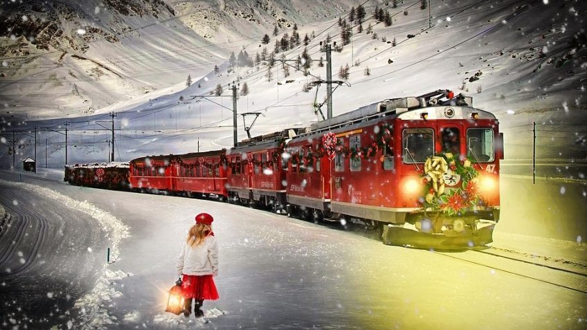 Winter Polar Express Train train tour in Mount Dora