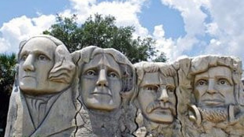 president'shall of fame includes a mini mount rushmore that guesst see during an original orlando tours visit to historic clermont florida for lunch