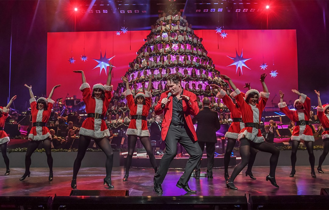 elvis lights up the room at the singing trees concert during an original orlando tours christmas tradition