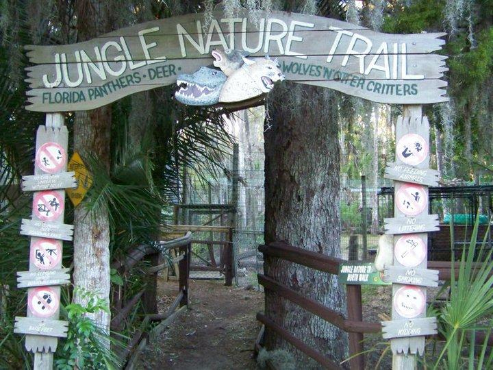a walk along a wild, natural florida nature trail is includedat Jungle adventures during an original orlando tours visit to historic christmas florida