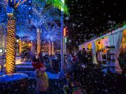 the beauty of christmas fun comes alive as snow falls during an original orlando tours visit to light up ucf