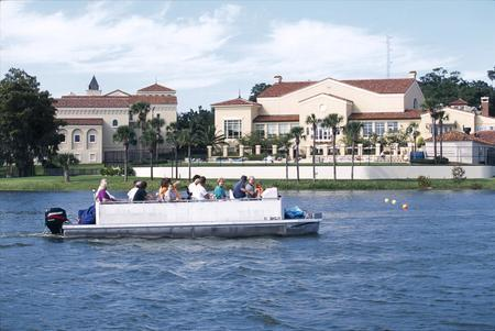 lake boat ride in historic old world winter park while on original orlando tours