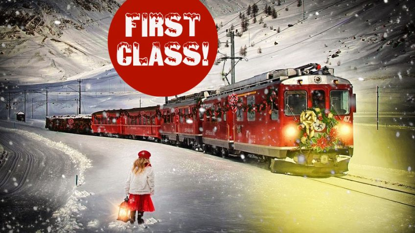 Polar-Express-Train-Experience-Train-and-Girl-first class